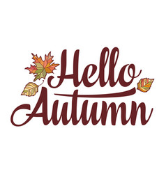 Hello autumn text retail message best for sale vector