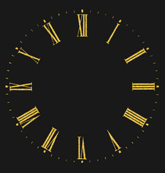 roman numeral clock vector image