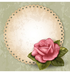 Card with rose vector