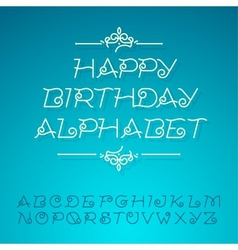 Hand-drawn alphabet letters happy birthday design vector