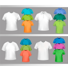 Color tshirt design template vector
