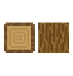 Texture for platformers pixel art - brown vector