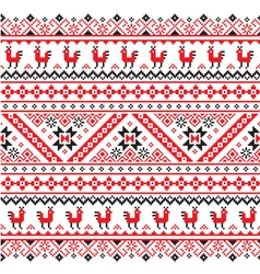 Ukrainian Belarusian red and black embroidery vector image