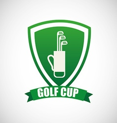 Golf cup design vector