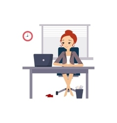 Woman at office daily routine activities of women vector