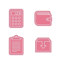 Universal sticker icons set vector image