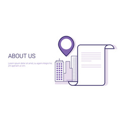 about us contact information search business vector image