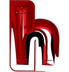 Artistic font letter h vector