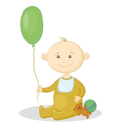 baby with a toys vector image