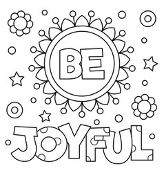 Be joyful coloring page vector