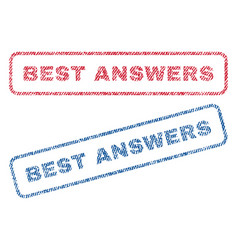 Best answers textile stamps vector