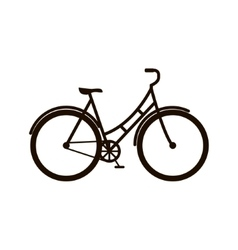 Bicycle icon on white background vector image vector image