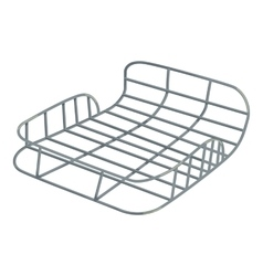 Bike luggage carrier icon isometric style vector