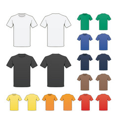 Blank colored t-shirt template vector