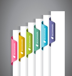 Bookmark Labels vector image vector image