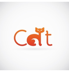 Cat Concept Symbol Icon or Logo Template vector image vector image
