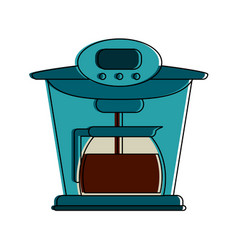 Coffe kettle isolated vector