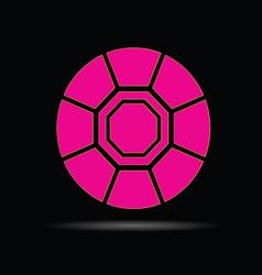 Diamond pink on black background vector