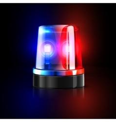 Emergency flashing police siren vector image