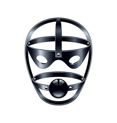 Face mask with gag isolated on white vector