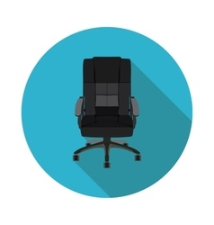 Flat icon office chair vector
