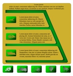 Infographics pyramid level horizontal vector image