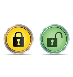 lock icon circle vector image vector image