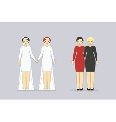 Loving Couples Happy Lesbian Partners vector image vector image