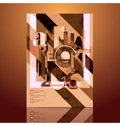 Modern Brochure Annual report Design Template vector image