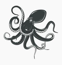 ocean octopus or underwater squid vector image