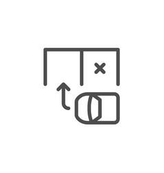 Parking scheme line icon vector