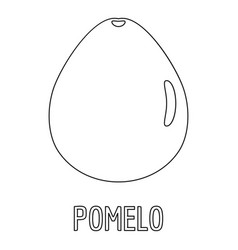 Pomelo icon outline style vector