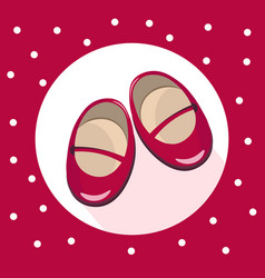 red baby crutches cute shoes colorful vector image vector image