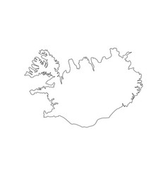 Republic of iceland map vector