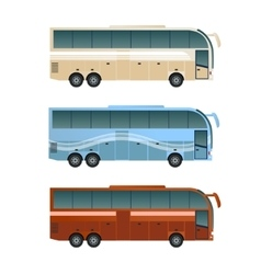 Set of diffirent buses vector