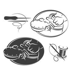 Shoe repair symbol set vector