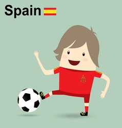Spain national football team businessman happy is vector