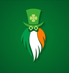 Stpatrick day leprechaun sign irish flag vector