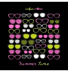 Summer Sunglasses Background vector image