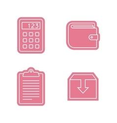 Universal sticker icons set vector image