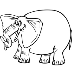 Elephant cartoon for coloring vector