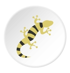 Striped lizard icon flat style vector
