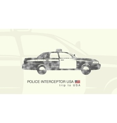 a car police interceptor USA vector image