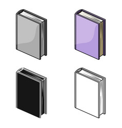 purple standing book icon in cartoon style vector image