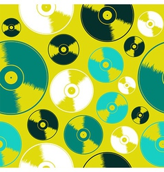 Vinyl record seamless pattern vector