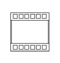 Filmstrip cinema movie negative line vector