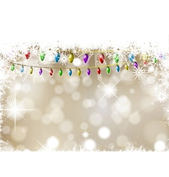 Christmas lights on a snowflakes and stars vector image