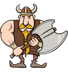 Viking cartoon vector