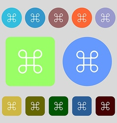 Keyboard maestro icon 12 colored buttons flat vector