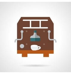 Brown coffee maker flat icon vector